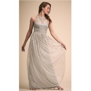 ANTHROPOLOGIE BHLDN GINNY SEQUIN FLOWER EMBELLISH
